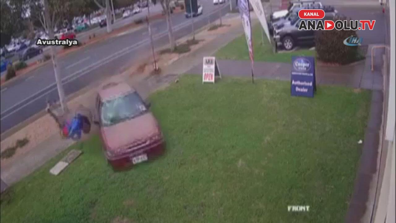 O kaçtı araç kovaladı