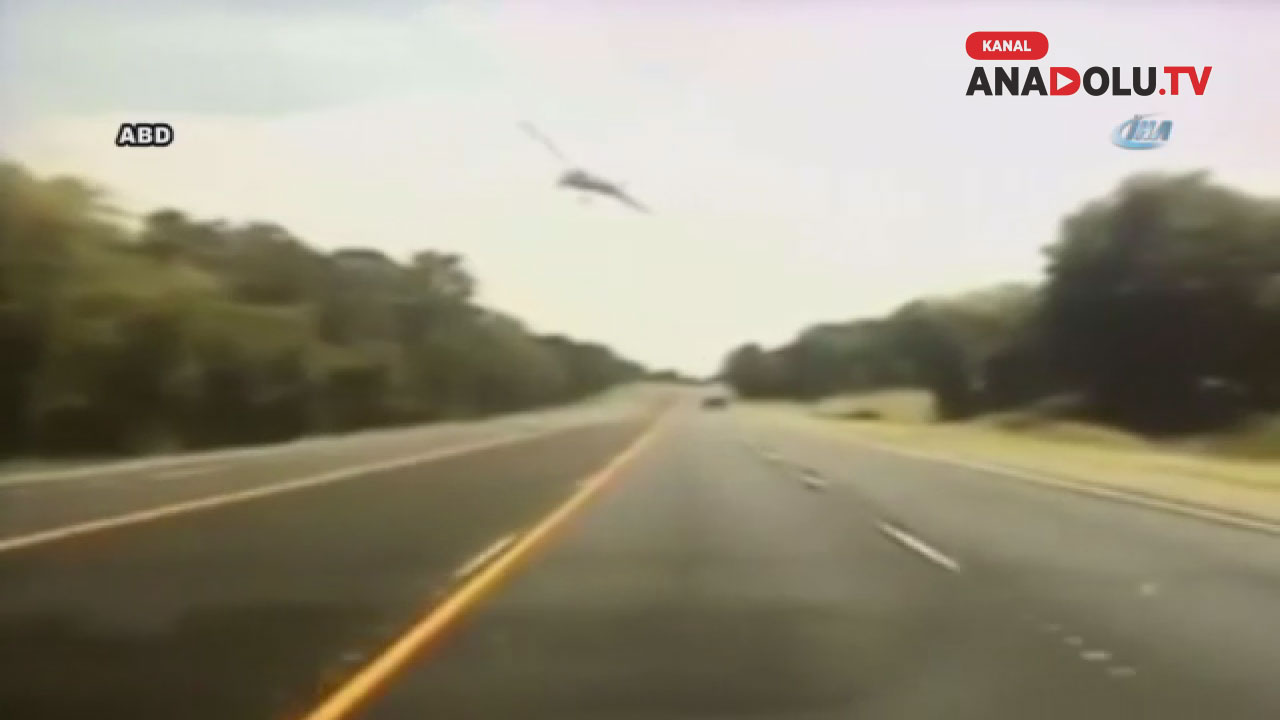 Uçağın düştüğü an çevrede büyük bir paniğe yol açtı
