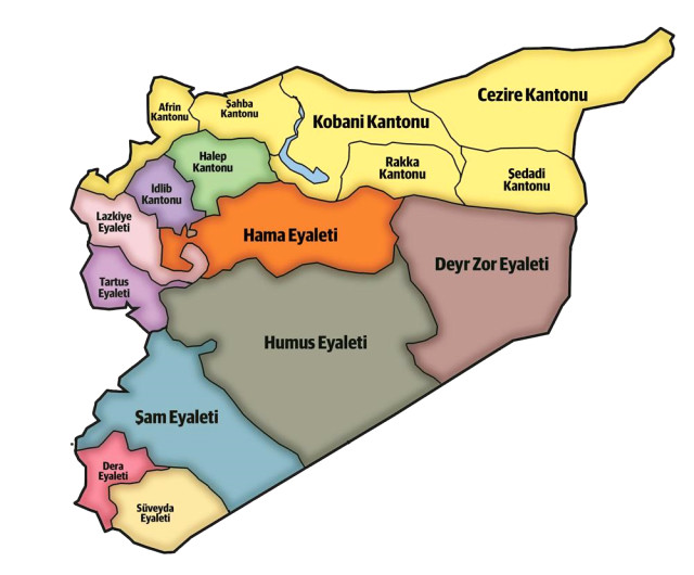 ABD'nin Skandal Suriye Haritası