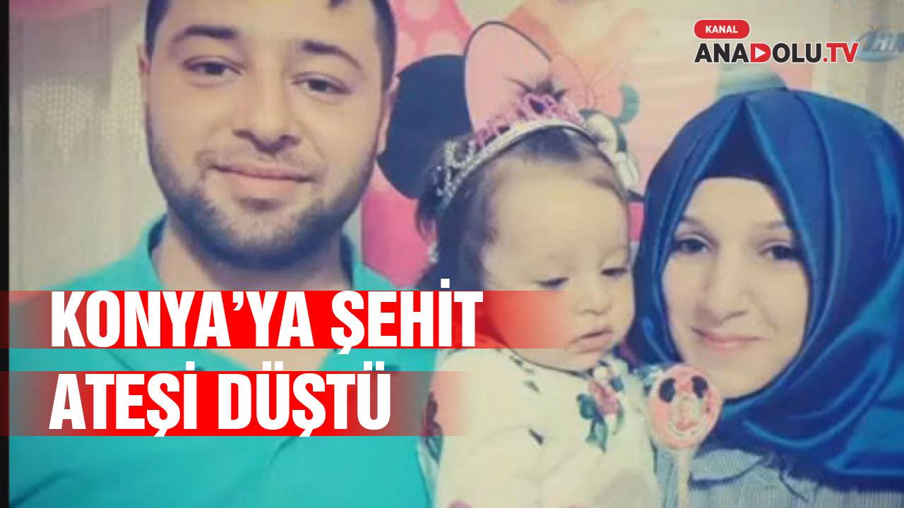 Konya'ya Şehit Ateşi Düştü #konyahaber