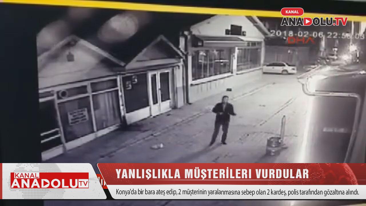 Konya'da barı kurşunladılar