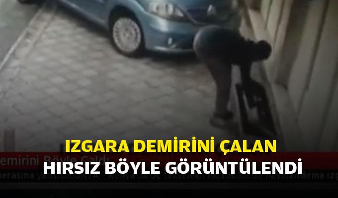 Konya'da ızgara demirini çalan hırsız böyle görüntülendi