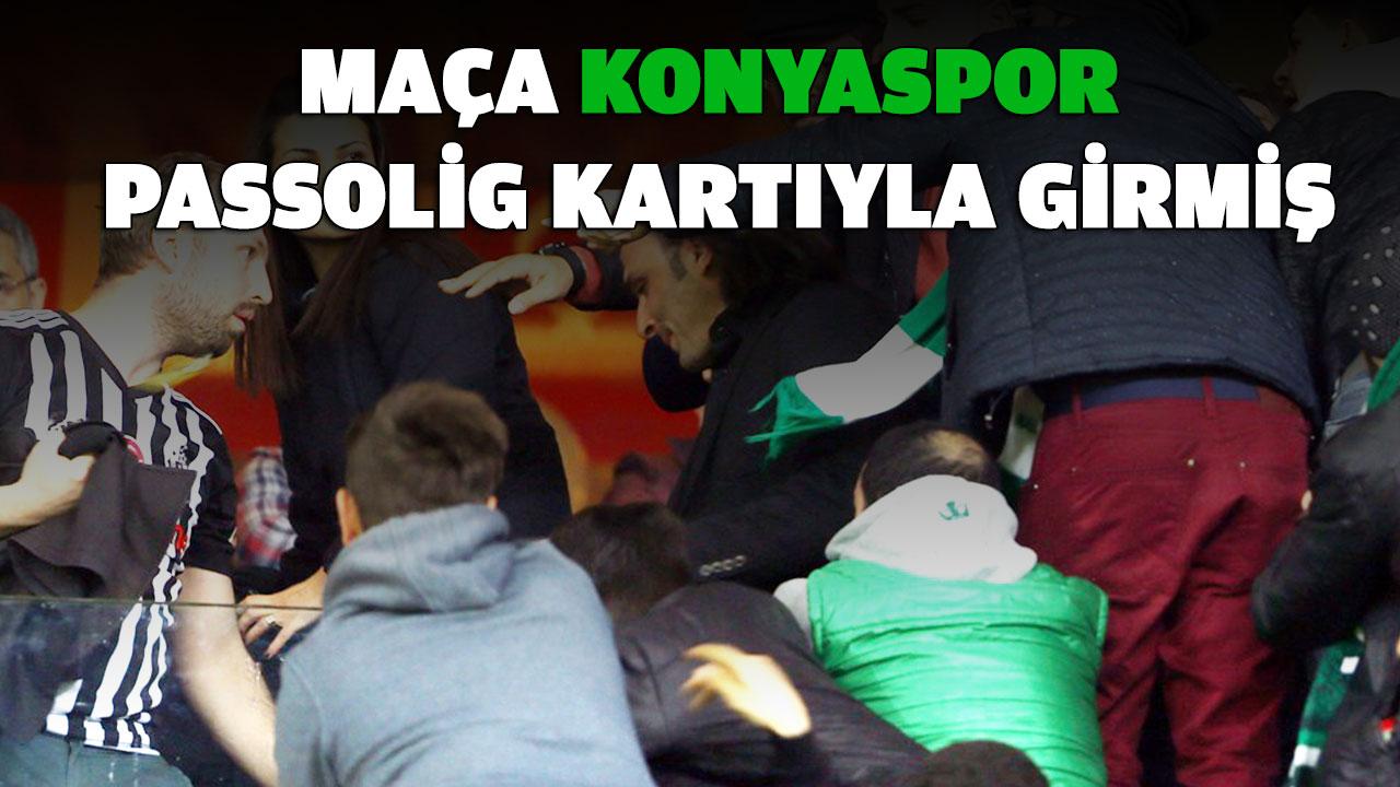Maça Konyaspor Passolig kartıyla girmiş