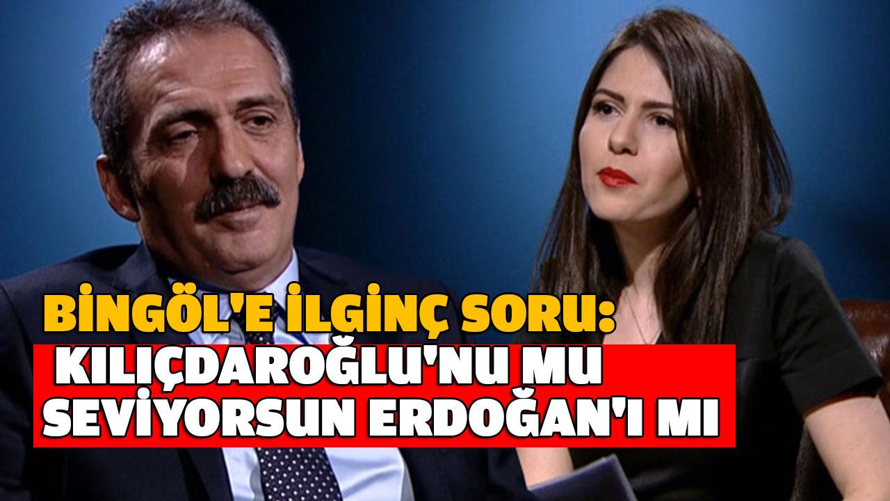 Bingöl'e İlginç Erdoğan sorusu