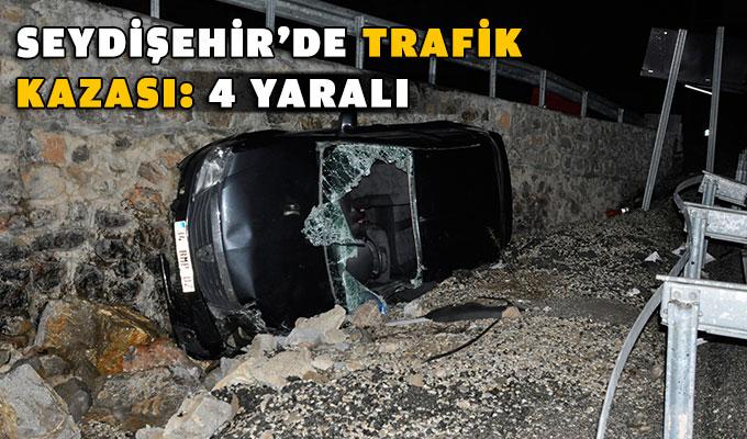 Seydişehir'de trafik kazası: 4 yaralı