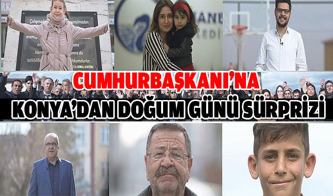 Konya'dan Cumhurbaşkanı Erdoğan'a