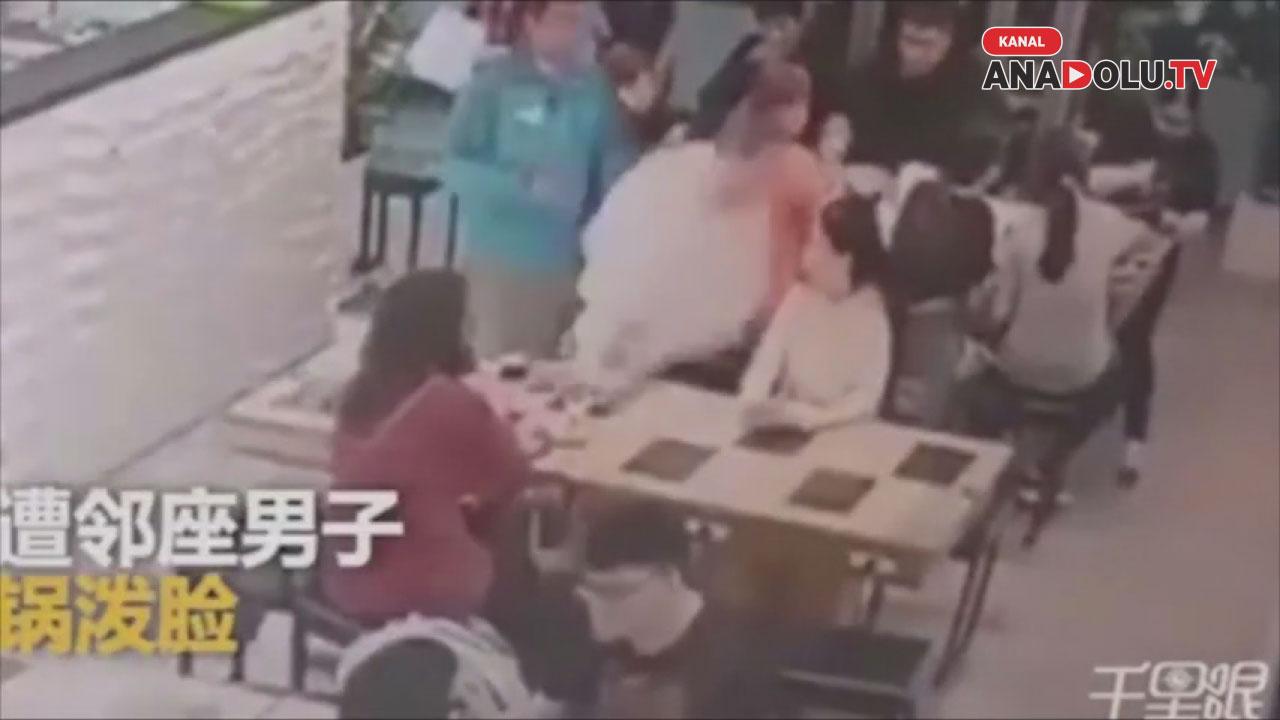Tartıştığı kadının yüzüne kaynar çorba döktü