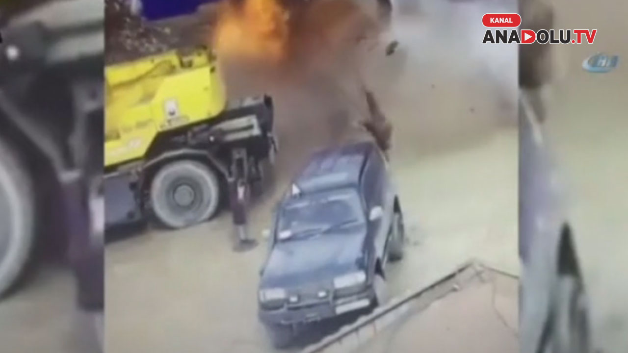 Yakıt deposu böyle patladı: 1 ölü, 2 yaralı