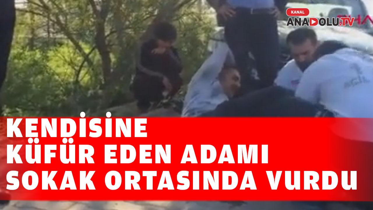 Konya'da kendisine küfür  eden adamı bacağından vurdu