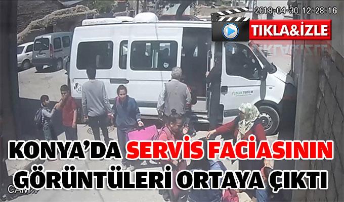 Konya'da servis faciasının görüntüleri ortaya çıktı