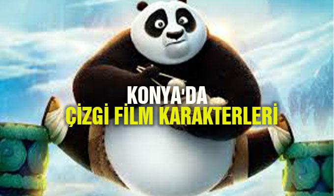 Konya'da çizgi film karakterleri çocuklarla konuşuyor!