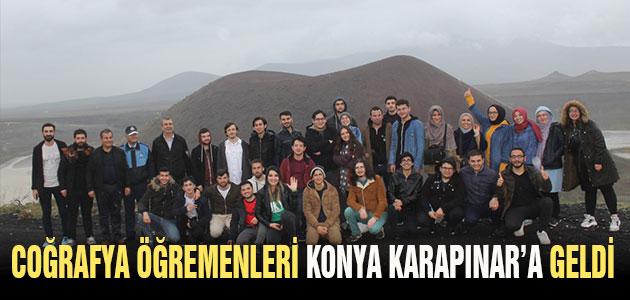 Coğrafya öğretmenliği öğrencileri Konya Karapınar'a geldi