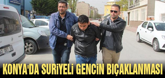 Konya'da Suriyeli gencin bıçaklanması olayı