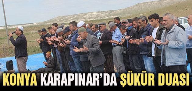 Konya Karapınar'da şükür duası