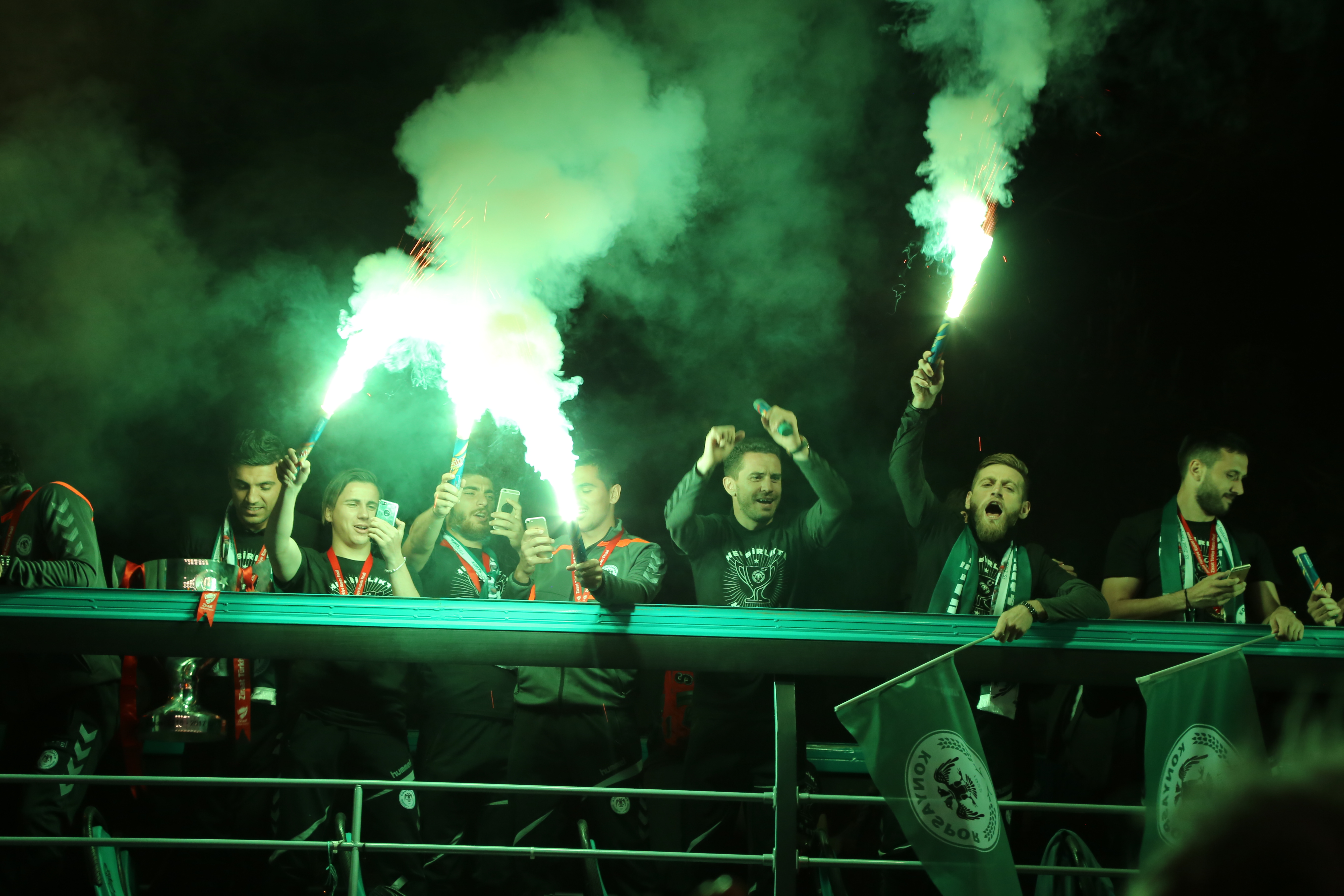 Konya'da Atiker Konyaspora coşkulu karşılama