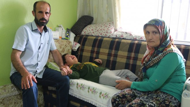 Konya'da 5 yaşındaki Mehmet hiçbir organını Kullanamıyor